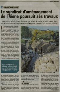 Le syndicat d'aménagement de l'Aisne, Smavas, poursuit ses travaux