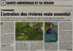 L'entretien des rivières reste essentiel révèle le Smavas