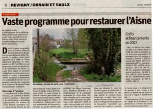 Programme de restauration de l'Aisne par le Smavas