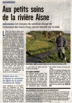 Aux petits soins de la rivière Aisne avec le Smavas