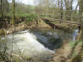 Seuil de l'ancien moulin de Senard