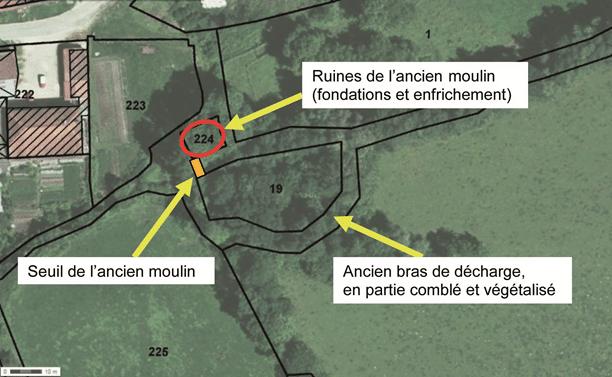 Vue aérienne et cadastrale du site
